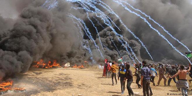 Gazze sınırı kana bulandı