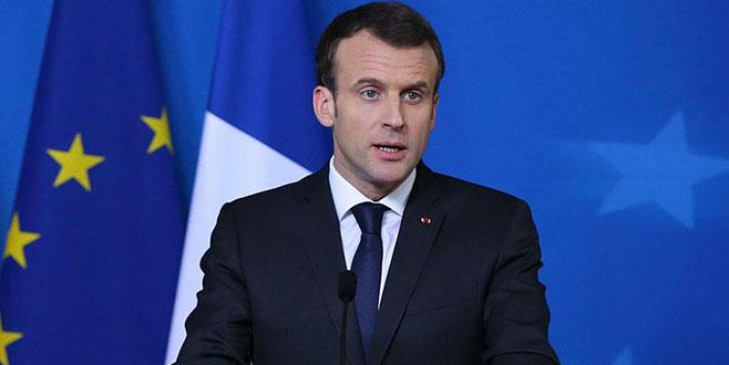 Macron: Suriye'de rejimin kimyasal kapasitesi yok edildi