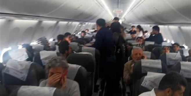 Uçakta gergin dakikalar…