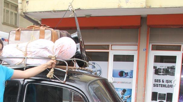 Şoke eden manzara! Araba üstünde 'kefenli ceset' ile…