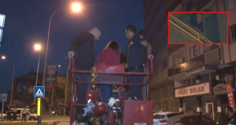 Yardım çığlıklarına önce bina sakinleri sonra polis yetişti