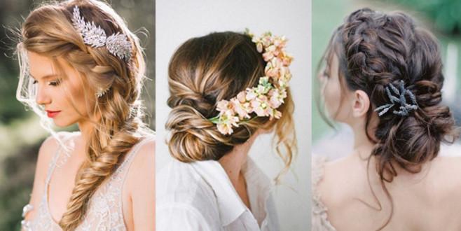 Yaz düğünleri için birbirinden güzel saç stilleri!