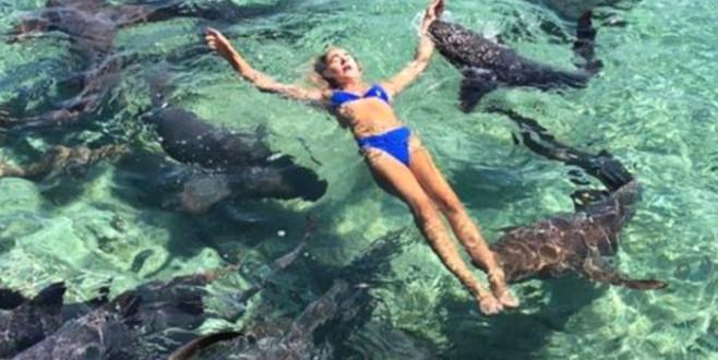 Ünlü model fotoğraf uğruna köpek balıklarına yem oldu!