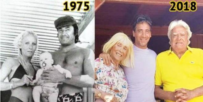 43 yıl sonra aynı poz! Sosyal medyada beğeni yağdı!
