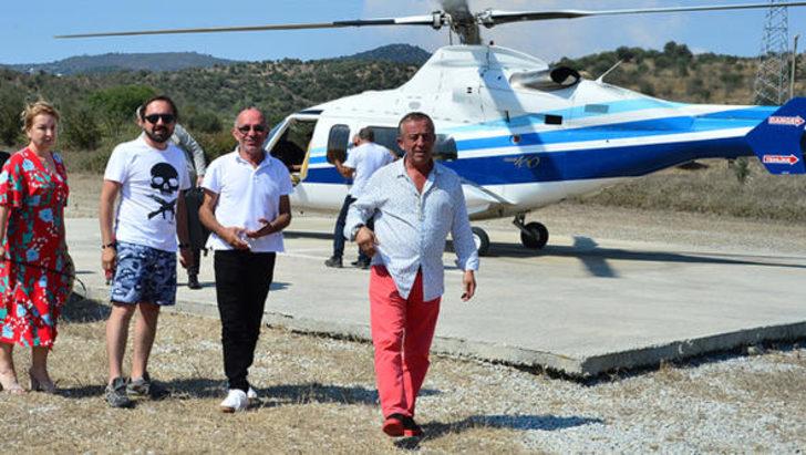 Ali Ağaoğlu helikopterle gelip el öptü!