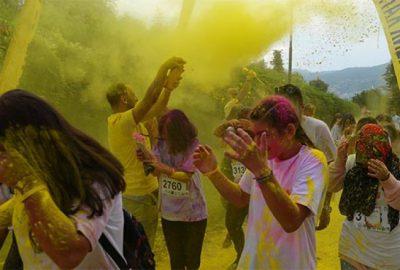 Bursa'da 'renkli koşu'