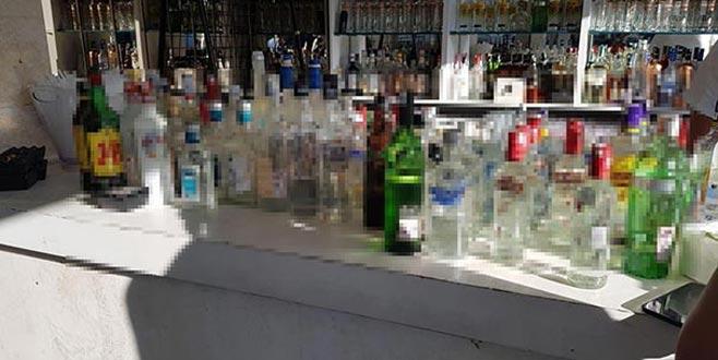 Lüks eğlence mekanına kaçak içki baskını: 4 gözaltı