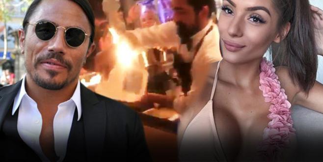 İşte Nusret'te yanan kadın! İş adamı sevgilisi için özel ekip ayarladı