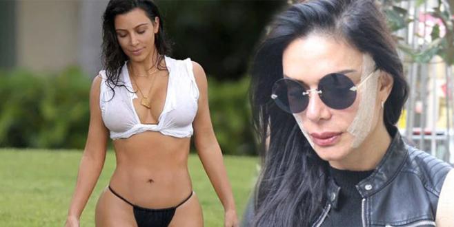 Kim Kardashian'a benzemek için şimdi de…