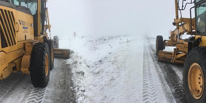 Kapalı köy yolu bulunmuyor! Karla mücadele başladı