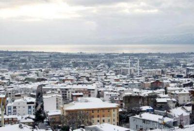 Orhangazi'de kar yağışı sonrası doyumsuz manzaralar