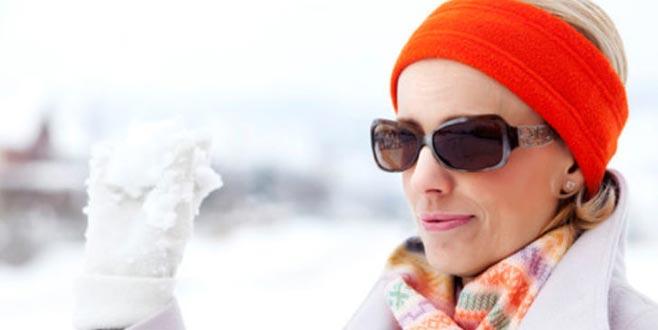 Kış aylarında güneş gözlüğü kullanın!