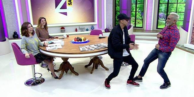 Tarık Mengüç ve oğlunun canlı yayında olay yaratan dansı!