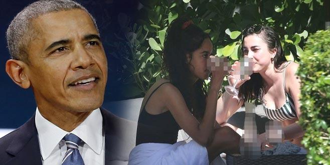 Amerika'yı karıştıran görüntü! Obama'nın kızı yasakları deldi geçti