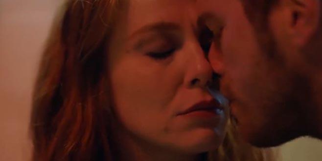 İddialı dizide öpüşme sahnesi damga vurdu!