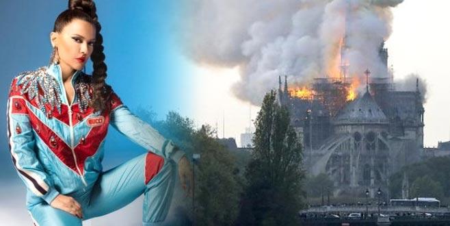 Demet'ten, Notre Dame Katedrali yangını tepkisi! Takipçisini uyardı