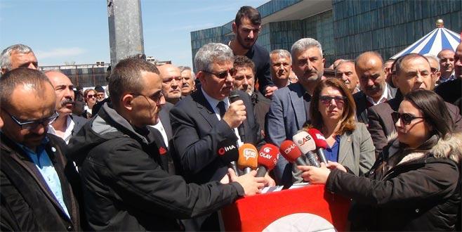 Kılıçdaroğlu'na yapılan saldırıya Bursa'dan da tepki geldi