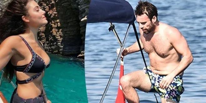 Hande Erçel ile Murat Dalkılıç'ın aşk tatili!