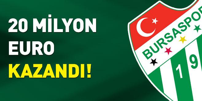 Bursaspor20 milyon Eurokazandı!