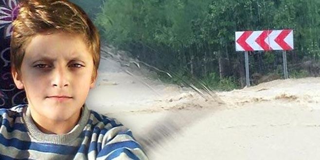 Bartın'da selde kaybolan çocuktan acı haber