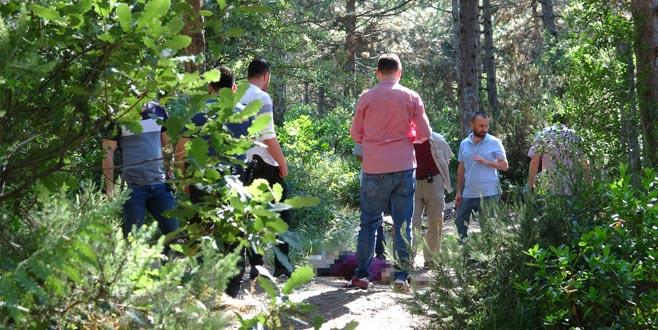 Ormanda 'satırlı' kadın cinayeti