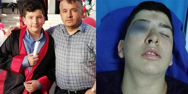 15 yaşındaki genç, bir anda kanlar içerisinde yere yığıldı