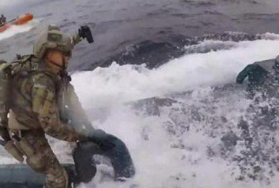 Denizaltıya uyuşturucu operasyonu! Nefes kesen anlar