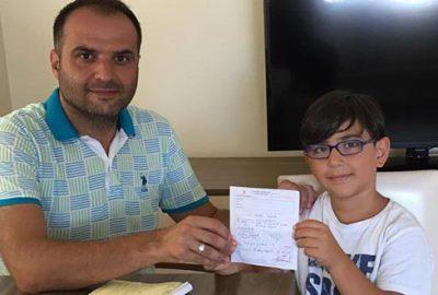 11 yaşındaki Yılmaz'dan örnek davranış