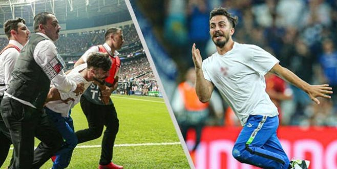 Süper Kupa finalinde sahaya giren YouTuber'a büyük tepki!