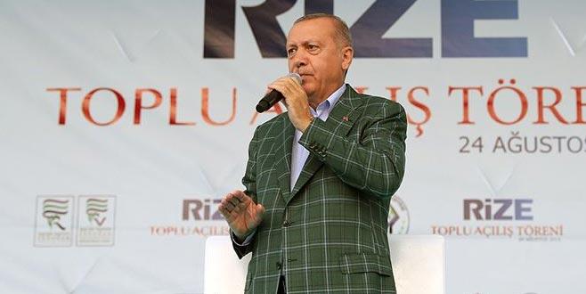 Erdoğan: Rize-Artvin Havalimanı 1,5 yıl içerisinde hizmete alınacak