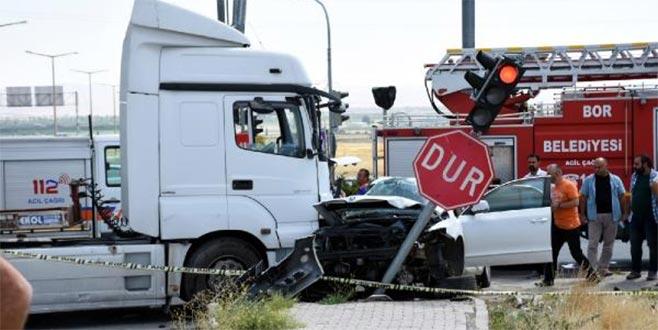 Emniyet Müdürü trafik kazası geçirdi