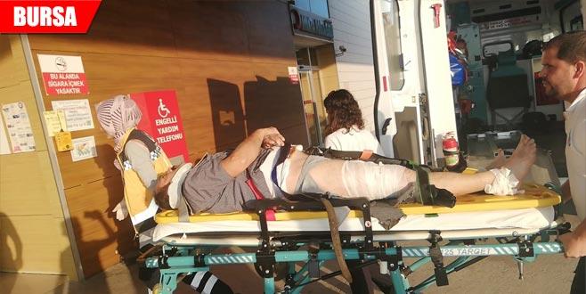 TIR bisiklete çarptı: 1 ağır yaralı