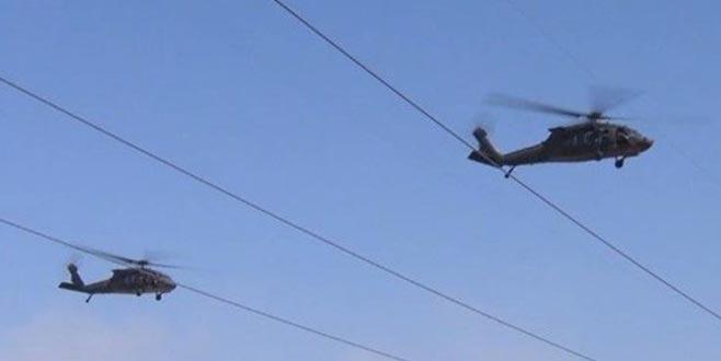 Fırat'ın doğusunda 4. ortak helikopter uçuşu