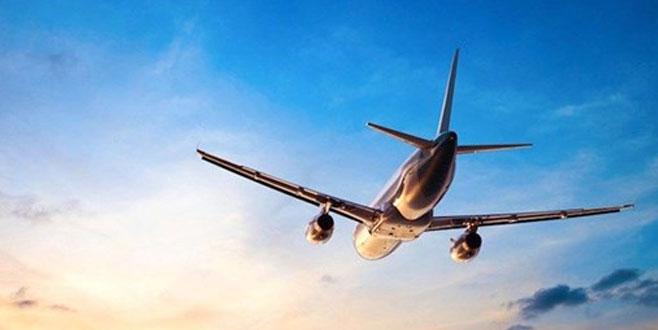Kuşa çarpan uçak Bursa üzerinde tur attı