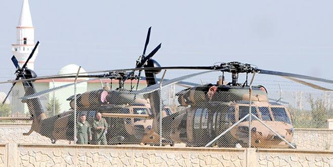 Akçakale'de zırhlı araç ve helikopter hareketliliği