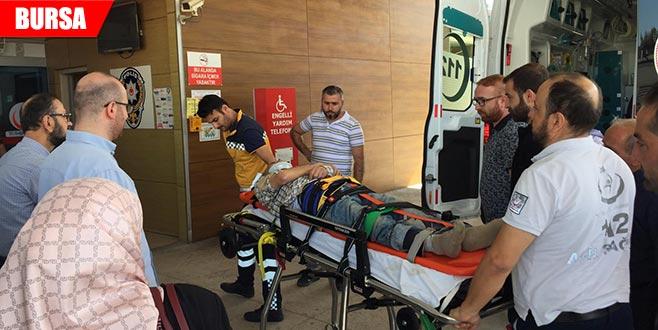 Ceviz ağacından düşüp, ağır yaralandı