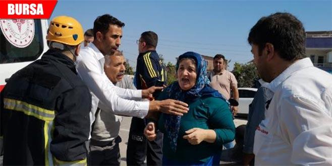 Yaralı oğlunu gören anne, gözyaşlarına boğuldu