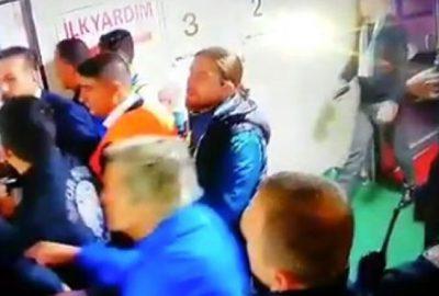 Maç sonu skandal! Tünelde eski hocasına saldırdı