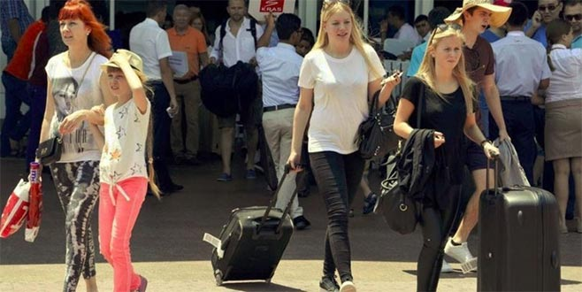 Rus turist sayısı 5 milyonu aştı