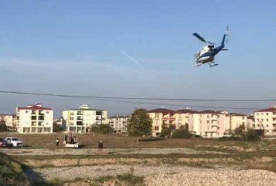 İznik semalarında uçan helikopterin sırrı çözüldü