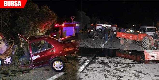 Kafa kafaya feci kaza: 1 ölü, 3 yaralı