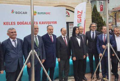 Bursa'nın bir ilçesi daha doğalgaza kavuştu