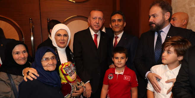 Bursalı Şahizar teyzeyi Cumhurbaşkanı misafir etti