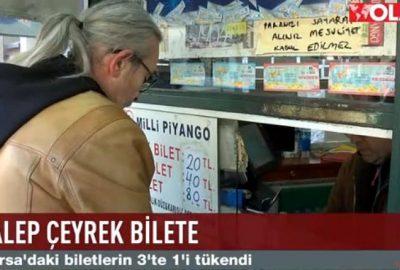 Bursa'da biletlerin 3'te biri tükendi