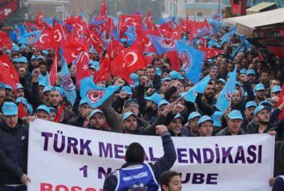 5 bin çalışanla gövde gösterisi