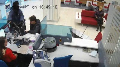 Banka soygununun görüntüleri ortaya çıktı