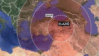 'Elazığ'daki depremi 120 milyon kişi hissetti'