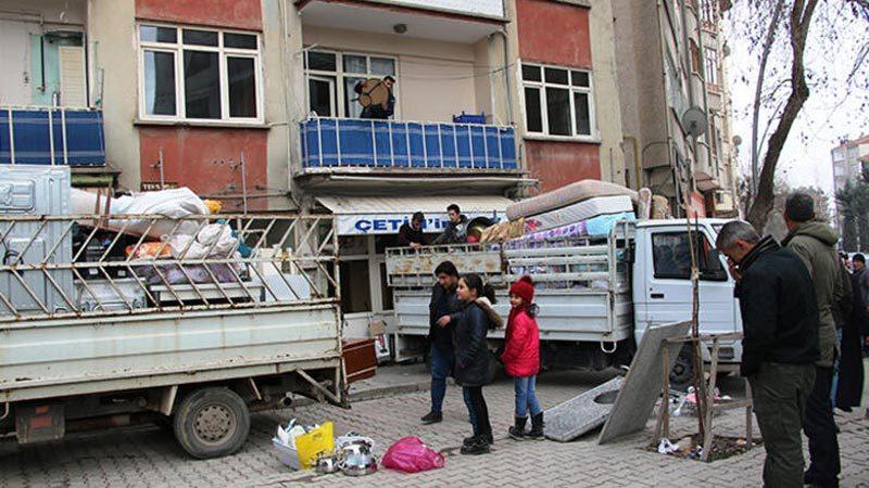 88 yapı için acil yıkım kararı, depremden kaçış