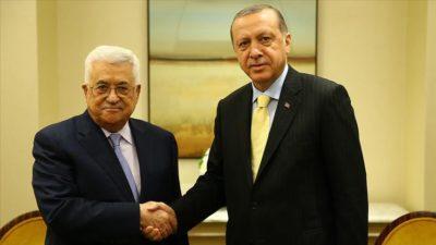 Erdoğan, Mahmud Abbas ile 'sözde barış planı'nı görüştü