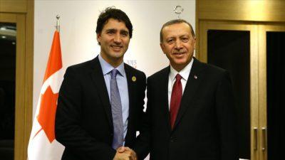 Cumhurbaşkanı Erdoğan, Trudeau ile görüştü